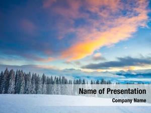 Nature landscape majestic winter landscape