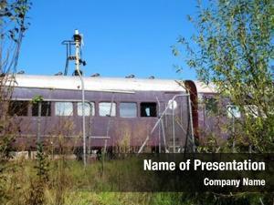 Rail old abandoned cars