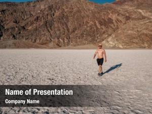 Tourist in badwater powerpoint theme