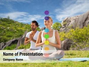 Outdoor mindfulness, spirituality yoga couple