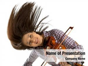 Playing the violin powerpoint template