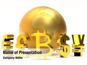 Golden global powerpoint template