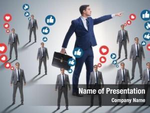 Networks concept social businessmen