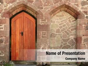 Blocked church door entrance