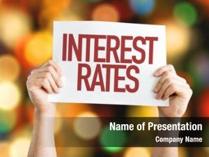 Placard interest rates bokeh