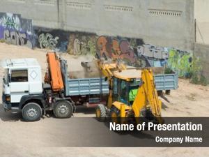 Excavating truck tractor