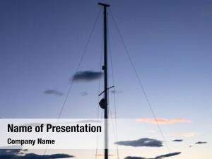 Boat mast sailing sunset, copy