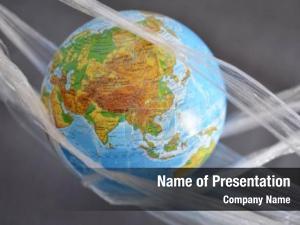 Polyethylene planet earth plastic disposable