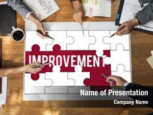 Improvement success achievement puzzle pieces