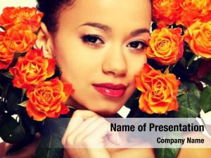 Woman beauty african roses