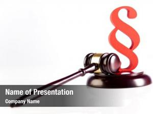 Sign gavel, paragraph symbol
