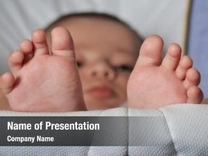 Feet little baby portrait lying