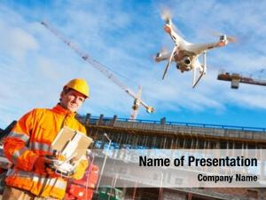 Drone operated powerpoint background