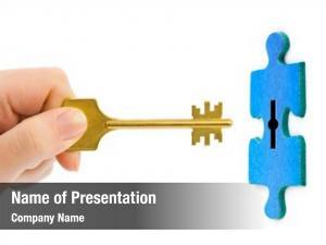 Puzzle hand key white