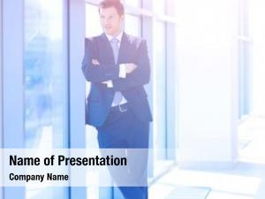 Businessman portrait young office