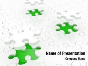 Green white puzzle
