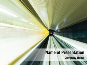 Through speeding train tunnel