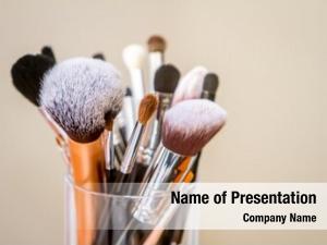 Makeup makeup brushes, artist working