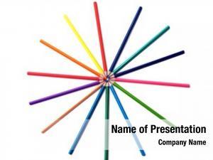 Arrange color pencils