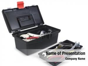 Tool black plastic box tool
