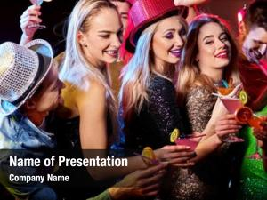 Woman disco powerpoint template