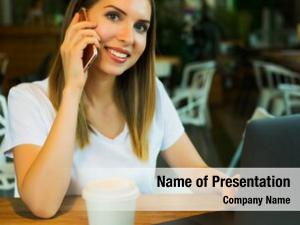 Business wooman powerpoint theme