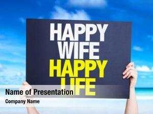 Happy happy wife life card
