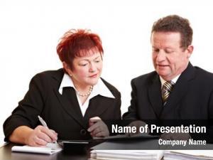 Listening senior woman financial adviser