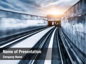 Rail,motion city metro blur