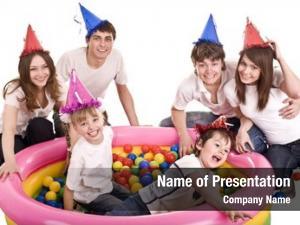 Birthday happy family, children