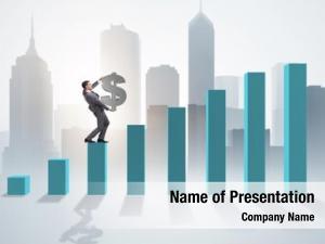 Businessman carrying dollar