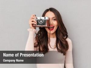 Pretty female photographer
