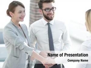 Looks senior assistant handshake business