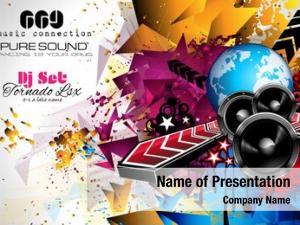 Club disco night flyer layout