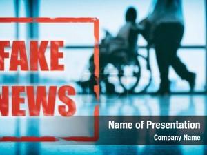 Billboard fake news blue medical