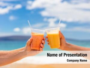 Couple toasting powerpoint template