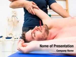 Man at physiotherapy powerpoint template