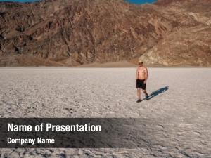 Tourist in badwater powerpoint background