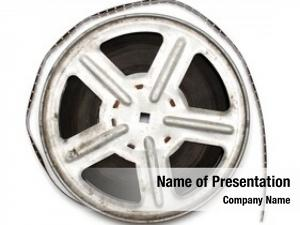 Film old movie metal reel