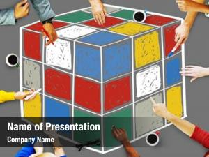 Game puzzle cube cube shape