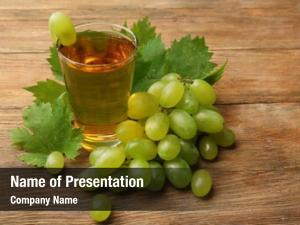 Juice glass grape wooden