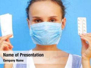 Mask woman medical blue