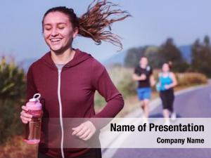 People group young jogging country