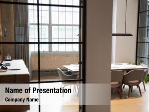 Empty boardroom powerpoint theme