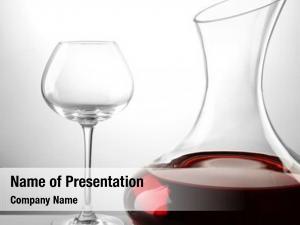 Wine glass carafe light