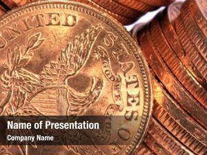 Golden american dollars coin