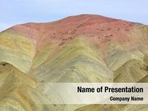 Arid himalayan mountains multi colored mountains