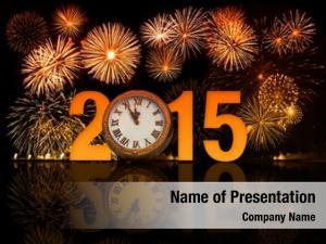 Celebration 2015 year icon fireworks