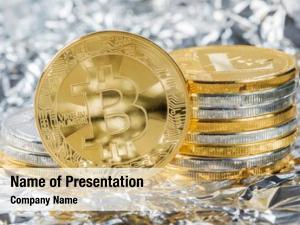 Electronic digital bitcoin cryptocurrency