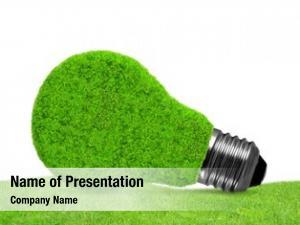 Bulb eco energy grass green
